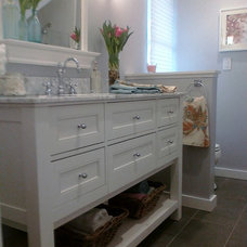 Traditional Bathroom by Found Design