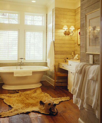 Farmhouse Bathroom by Frederick + Frederick Architects