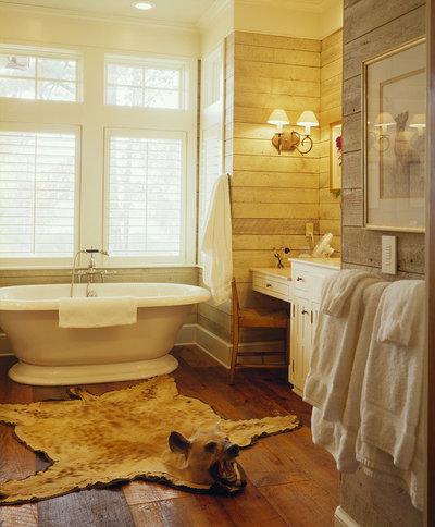 Farmhouse Bathroom by Frederick + Frederick Architects