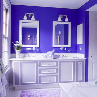 Design ideas for an eclectic bathroom in Boston.