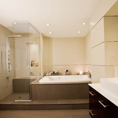 modern bathroom by Uribe Studio Inc.