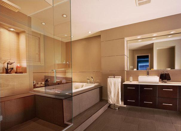 Modern Bathroom by Uribe Studio Inc.