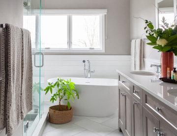 Bathroom Goals:  Shiplap/Storage/Shower