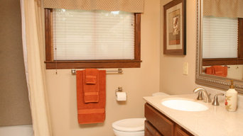 Bathroom goes from Pink to Neutral