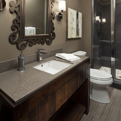 contemporary bathroom by Hendel Homes