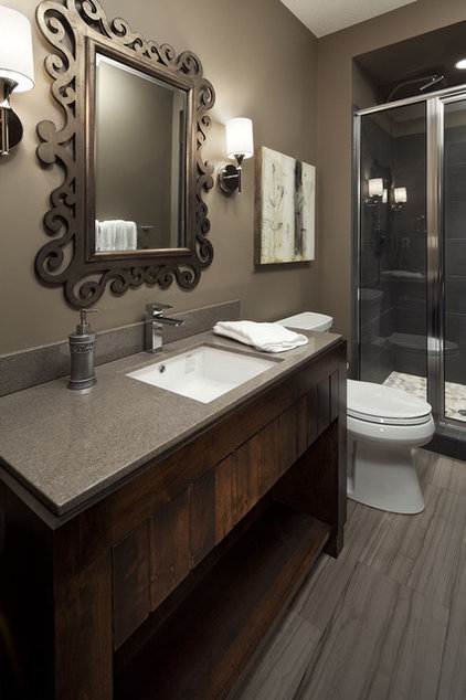 Rustic Bathroom by Hendel Homes