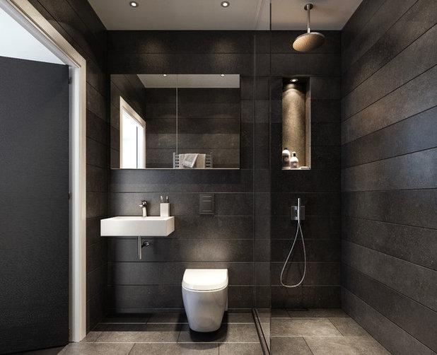 Simple Contemporary Bathroom by HAMILTON COURT DEVELOPMENTS LTD