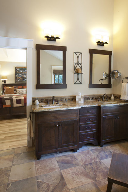 Craftsman Bathroom by Brookstone Builders