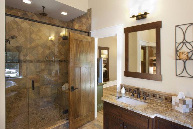 Craftsman Bathroom by Brookstone Builders