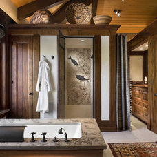 Rustic Bathroom by Ike Kligerman Barkley