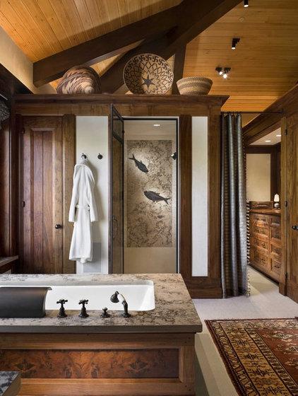Rustic Bathroom by Ike Kligerman Barkley