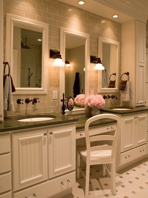 Triple Mirror Vanity Ideas, Pictures, Remodel and Decor