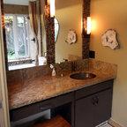 Master Bathroom With Japanese Soaking Tub Asian