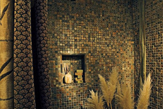 Asian Bathroom by Jan Gunn Interior Architecture and Design