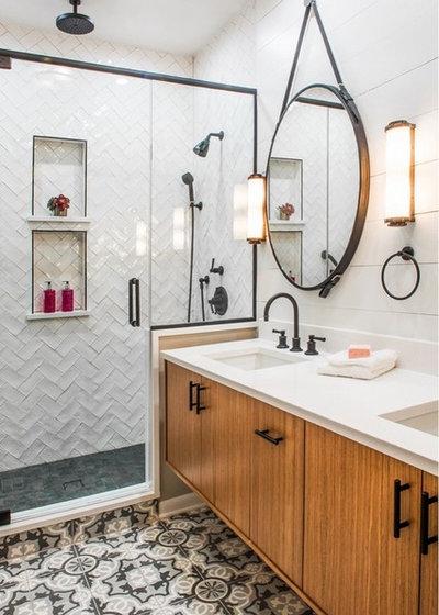 Transitional Bathroom by JASMIN REESE INTERIORS