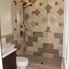 Mediterranean Bathroom by Jill Seidner Interior Design