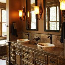 Rustic Bathroom by Karen Hodgdon, Allied ASID