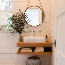 Transitional Bathroom by Kathleen DiPaolo Designs