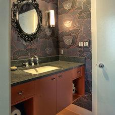 Contemporary Bathroom by Kelle Contine Interior Design, LLC