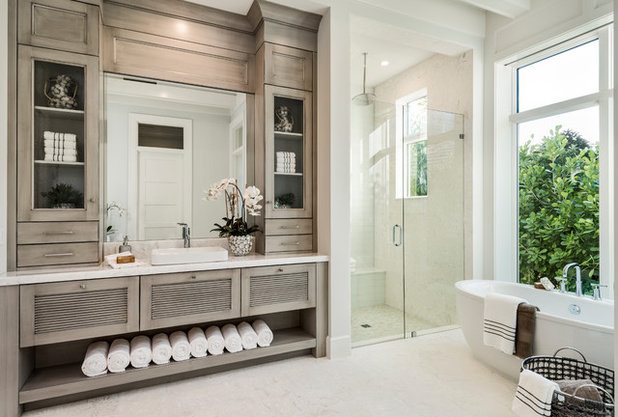 Transitional Bathroom by Knauf-Koenig Group