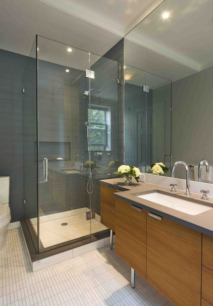 Modern Bathroom by Laurie Lieberman Architects