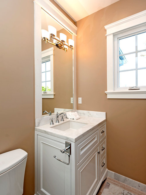 38 lowes wall panels Small Bathroom Design Photos with Brown Cabinets
