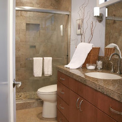 contemporary bathroom by Linda Florio - Progressive Builders Northwest