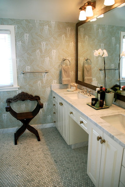 eclectic bathroom by Lisa Borgnes Giramonti