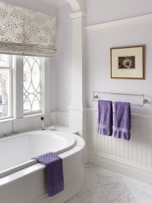 Pvc wainscoting home design ideas pictures remodel and decor for Bathroom ideas purple accents