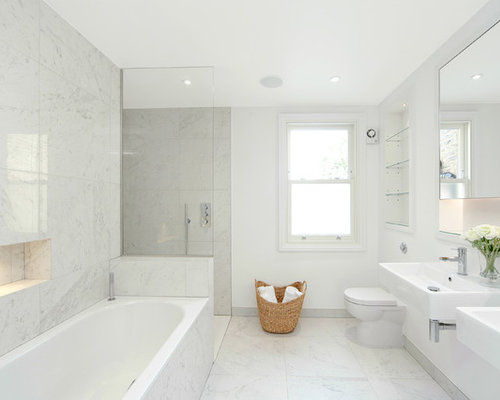 Family Bathroom Design Ideas Renovations Photos With A Built In Bath