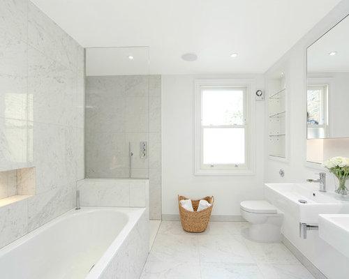 Family Bathroom Design Ideas Renovations Photos With A Built In Bath