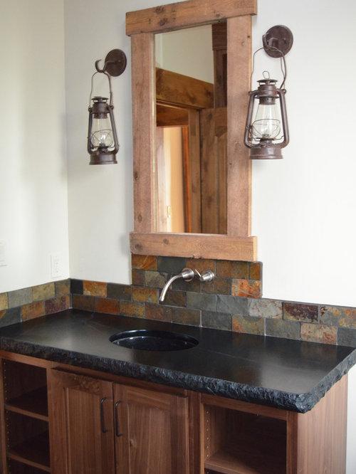 Small Bathroom Design Ideas Renovations Photos With Soapstone Worktops