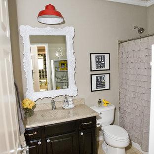 Bathroom - traditional bathroom idea in Salt Lake City with an integrated sink