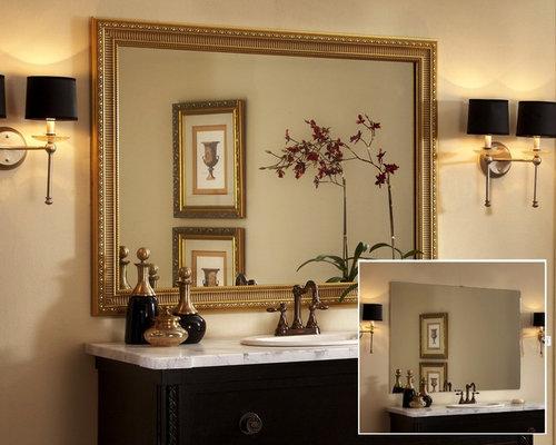 Framed Bathroom Mirror Houzz