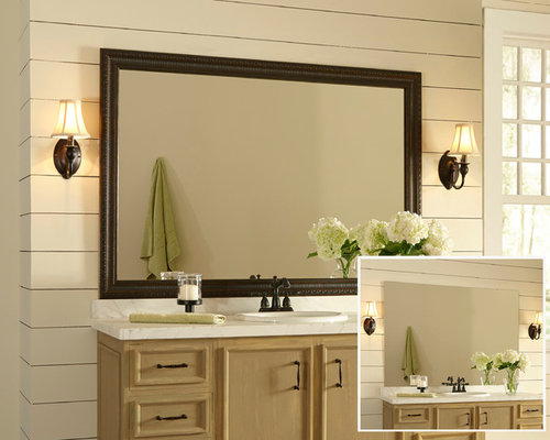 Framed Bathroom Mirror Design Ideas & Remodel Pictures | Houzz
