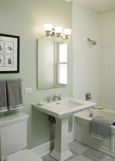 Traditional Bathroom by Molly McGinness Interior Design