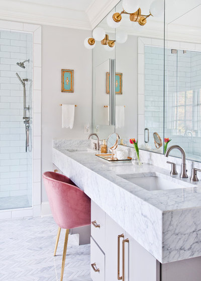 Transitional Bathroom by Terri Sears, Kitchen and Bath Designer