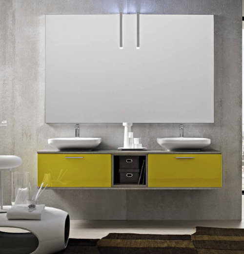 Modern Bathroom Design Ideas Renovations Photos With Yellow Cabinets