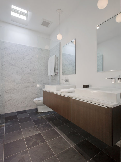 Dark Gray Tile Floor Houzz