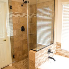 Traditional Bathroom by Layin Pipe Plumbing