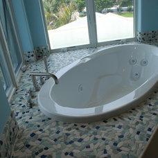 Tropical Bathroom by American Tile and Stone/Backsplashtogo.com