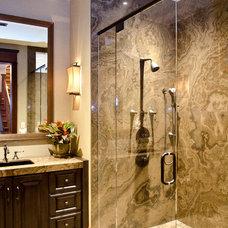 Craftsman Bathroom by ACM Design