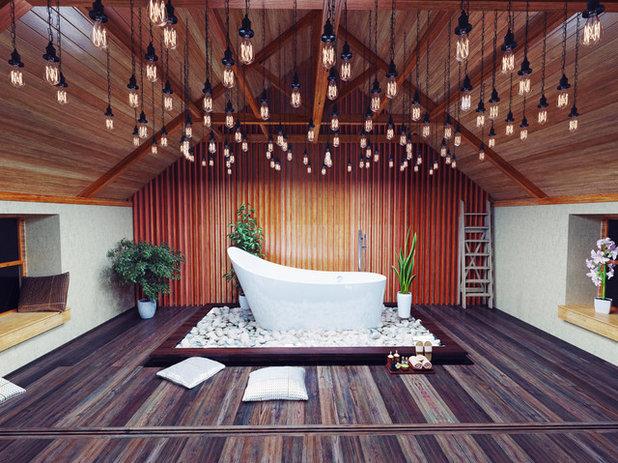 Asian Bathroom by OTM Designs & Remodeling Inc.