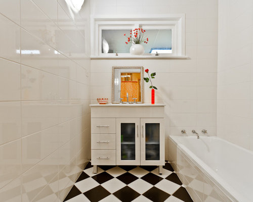 Gloss White Tiles Ideas, Pictures, Remodel and Decor
