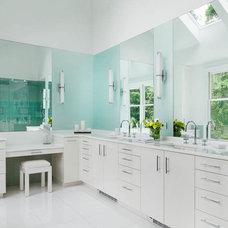 Contemporary Bathroom by Leslie Fine Interiors