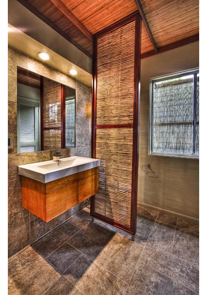 Tropical Bathroom by 2D3D Design, INC