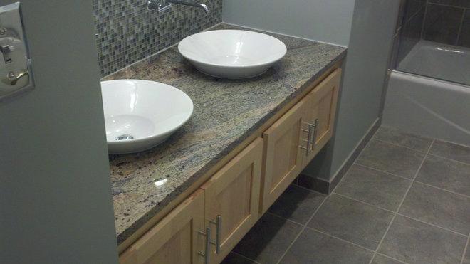 Contemporary Bathroom by Angler Carpentry LLC