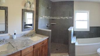 Bathroom Remodel before glass