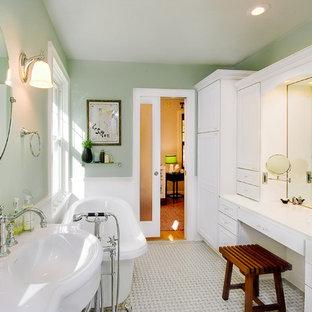 Idee per una stanza da bagno vittoriana con vasca freestanding