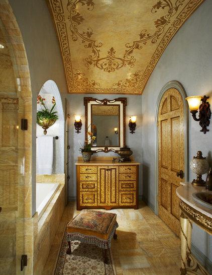 Mediterranean Bathroom by Grace Designs Dallas
